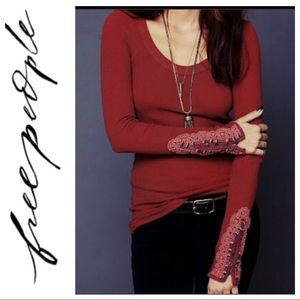 Free People embellished cuff thermal